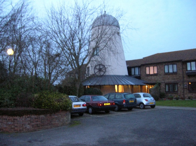 photo of the old windmill in pagham today church of england parish