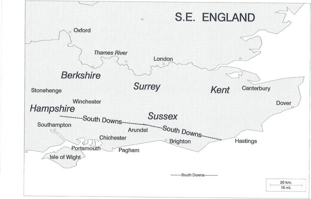 towns such as Southampton and Portsmouth.