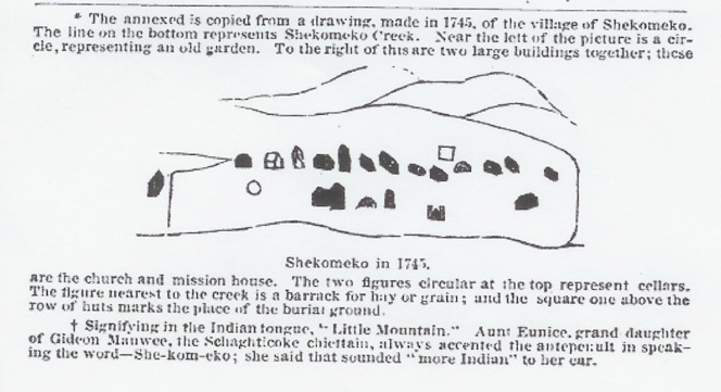 The illustration shown below of the Indian town of Shekomeko, in