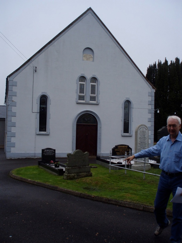 Lionel Nebeker at the Vinecash Presbyterian Church in Ballintaggart