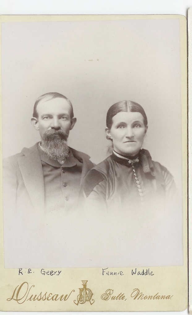 "Rueben r geery and lucy frances ""fanny"" waddle geery"