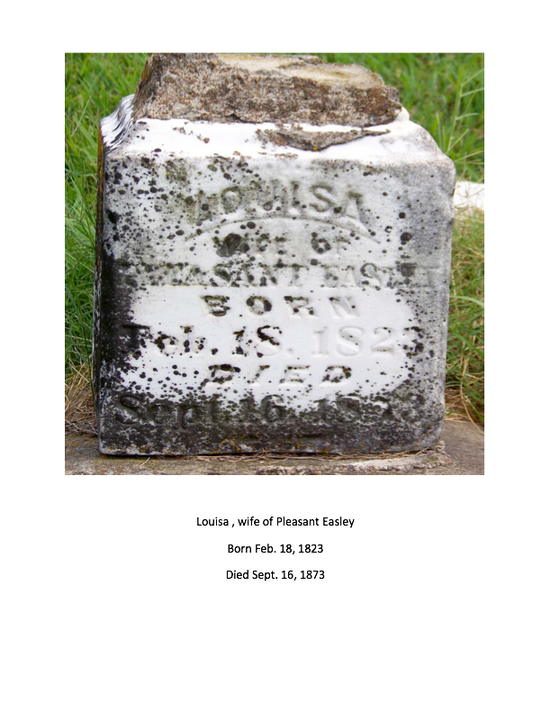 Headstones for Pleasant Easley and Louisa Sinclair Easley [can be ...